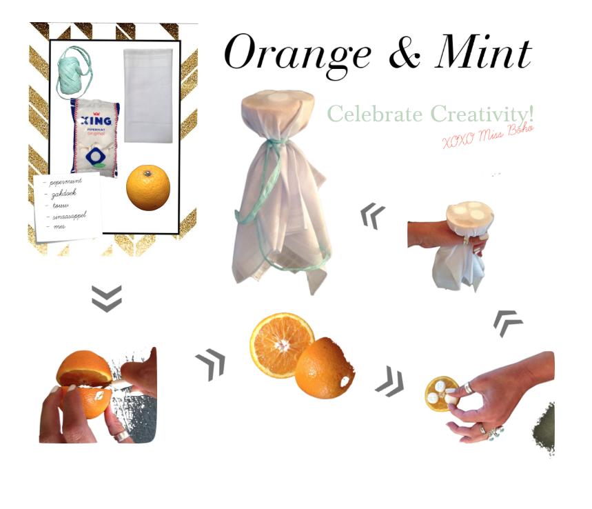 sinaasappel en pepermunt traktatie