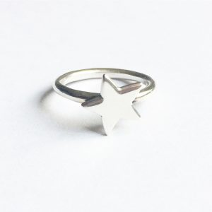 zilver ring ster